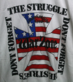 WARZONE don't forget the struggle T-SHIRTS WHITE