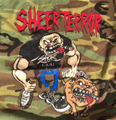 SHEER TERROR bulldog walker CAMO T-SHIRTS