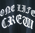 ONE LIFE CREW scaring T-shirts