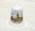 <新品>ドイツハンブルグの市庁舎を描いた陶器製のシンブル