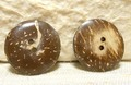 【ココナッツボタン】光沢のある直径25mmのボタン