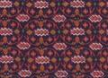 エキゾティックな幾何学模様のプリントシルク