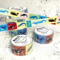 ◎クジラ柄マスキングテープ:カラー2