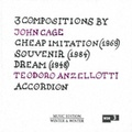 Teodoro Anzellotti / John Cage; Cheap Imitation (910 080-2)