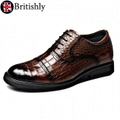 Derbyshire Brown Croco 6.5cmアップ