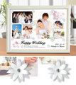 結婚祝い 写真立て フォトフレーム 名入れ、名前入りプレゼント A4 「カップチェーナ」