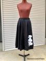 【mia162-1】アップリケスカート(ブラック)