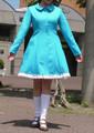 プリンセスラインのワンピース前開きタイプの型紙 婦人Mサイズ