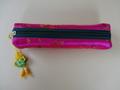 韓国伝統工芸「刺繡の筆入れ・濃ピンク色」