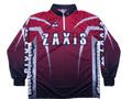 ZAXISトーナメントドライシャツ ワインレッド