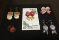 ハムサ刺繍のピアス4種
