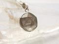 ギベオン隕石 silver925ヘキサゴンペンダントトップ12mm