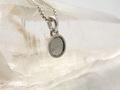 ギベオン隕石 silver925サークル型ペンダントトップ/6mm