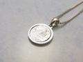 ギベオン隕石 silver925サークル型ペンダントトップ/フラワーオブライフ 10mm