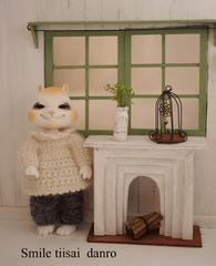 小さめ 暖炉モチーフ