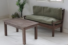ローテーブル(ブライス、リカちゃん)アンティークブラウンシャビー