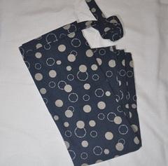 綿100% 水玉 巻きスカート