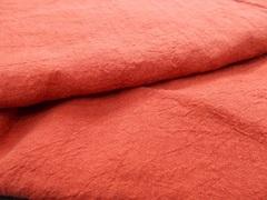 麻の一枚布 赤 ロング
