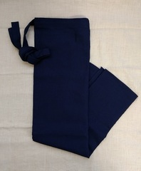 紺 巻きスカート