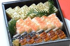 押し寿司3種盛り