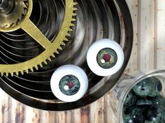 Machineral eye:ヨルムンガンド【20mmペア】初期ロット特価