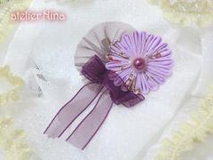つまみ細工の花飾り〈ネオサイズ〉
