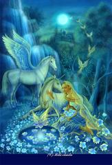 ポストカード:「夢幻の庭」