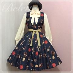 ナッツクラッカープリントドレス