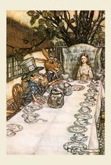 お茶会(A4サイズ額絵)