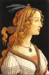 シモネッタ・ヴェスブッチの肖像画(A5サイズ額絵)