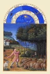 ベリー公のいとも豪華なる時祷書-11月(A5サイズ額絵)