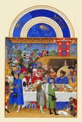 ベリー公のいとも豪華なる時祷書-1月(A5サイズ額絵)