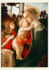 聖母子と洗礼者ヨハネ(A4サイズ額絵)