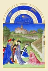 ベリー公のいとも豪華なる時祷書-4月(A5サイズ額絵)
