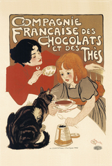 Chocolat de la Compagnie Francaise(A5サイズ額絵)