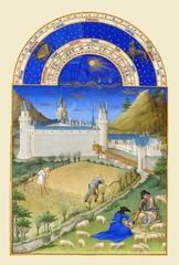 ベリー公のいとも豪華なる時祷書-7月(A5サイズ額絵)