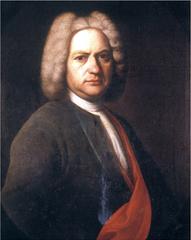 バッハの肖像画(A5サイズ額絵)