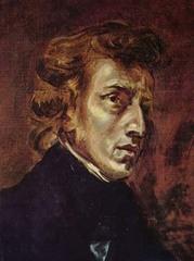 ショパンの肖像画(A5サイズ額絵)