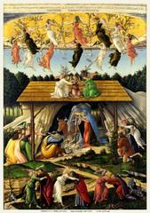 神秘的なキリストの降誕(A5サイズ額絵)