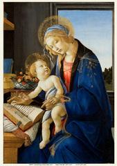 聖母子(The Madonna of the Book)(A4サイズ額絵)