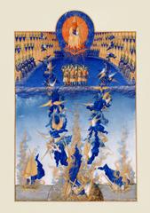 ベリー公のいとも豪華なる時祷書-叛逆の天使(A4サイズ額絵)