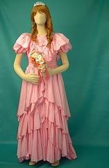 【女装用・ウエディングドレス02】ピンク ★M335-02