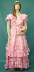【ウエディングドレス/ビッグサイズ/ピンク】★あ335-03