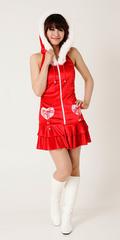 【販売品】Chistmas レディース サンタドレス【ラブレースサンタドレス】★SALE!