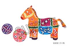 ポストカード・琉球張り子の馬