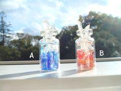 地裏と地表のクリスタル小瓶
