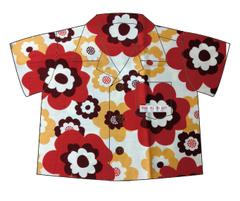 アロハシャツ・レトロ花柄