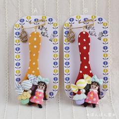 【SOLD OUT】おリボンおさげちゃんとお菓子のスプーンブローチ