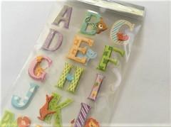 アルファベット 3Dスティッカー