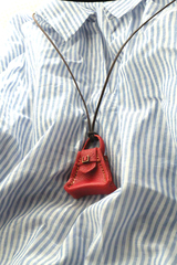台形ハンドbagネックレス(赤)